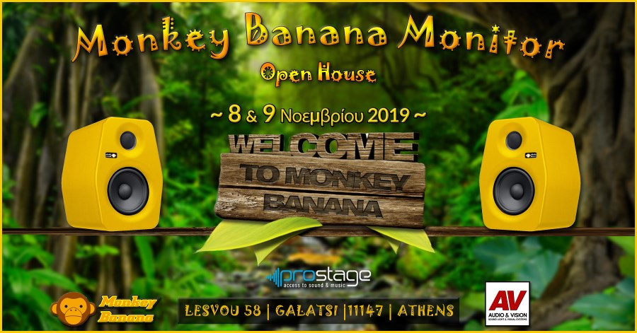 Audio & Vision: Monkey Banana Monitor Open House - Πρόσκληση!