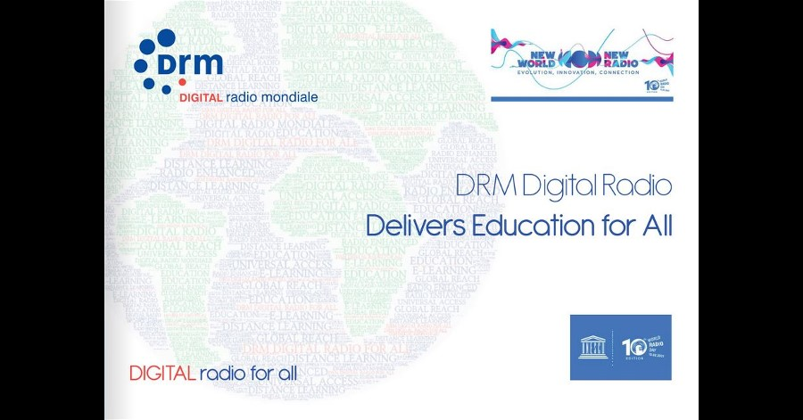 DRM Consortium Announces DRM for Education e-book and Initiative on 10th World Radio Day.