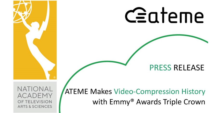 ATEME Makes Video-Compression History with Emmy® Awards Triple Crown.