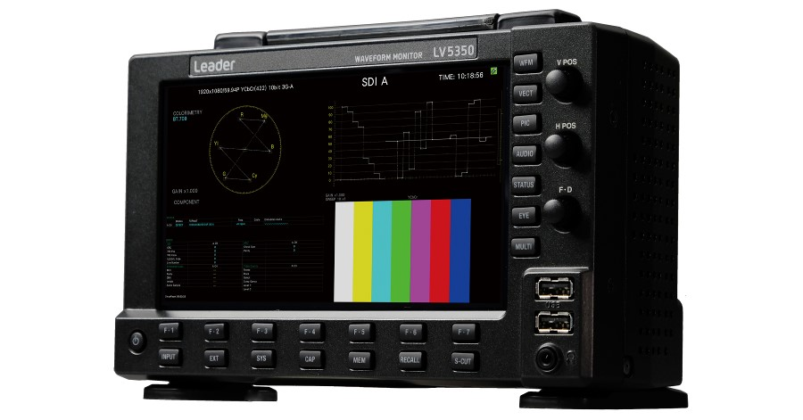 Phoebe Fraser Ltd Invests in Leader LV5350 4K/12G-SDI Waveform Monitor.