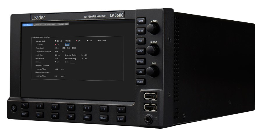 Leader Announces Advanced Audio Program Loudness Measurement for ZEN Series LV5600 Waveform Monitor and LV7600 Rasterizer.