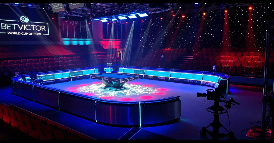 Gemini 2x1 LEDs shine down on the 2019 World Cup of Pool, Just Completed in the U.K.