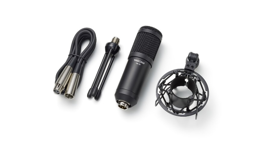 TASCAM Announces the TM-70 Dynamic Microphone for Broadcasting.