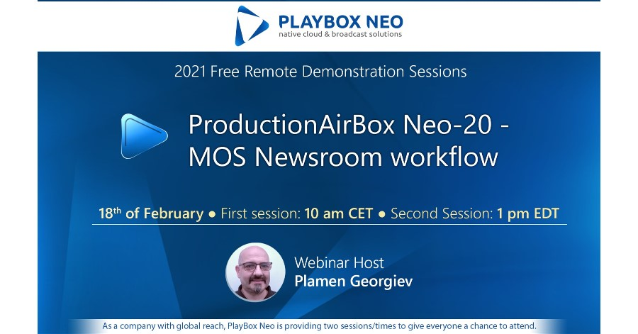 PlayBox Neo Webinar: ProductionAirBox Neo-20 - MOS Newsroom workflow.